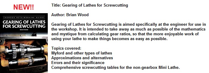 Gearing of Lathes For Screwcutting (Crowood)